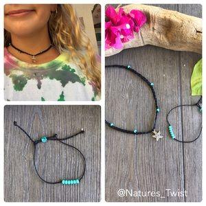 🌺🌿Handmade Surfer Necklace and Bracelet set🌿🌺